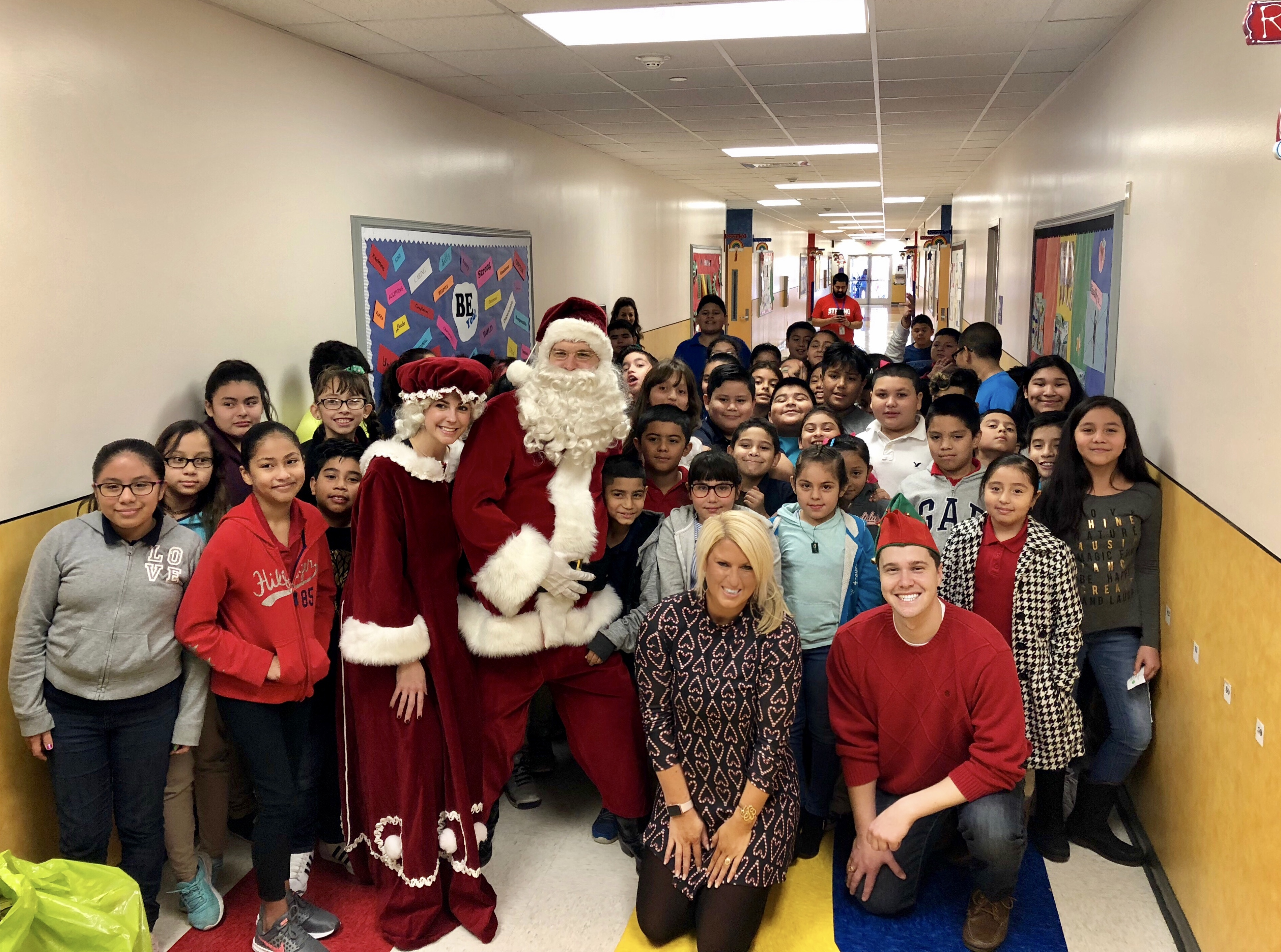 Santa Visited Rucker Elementary